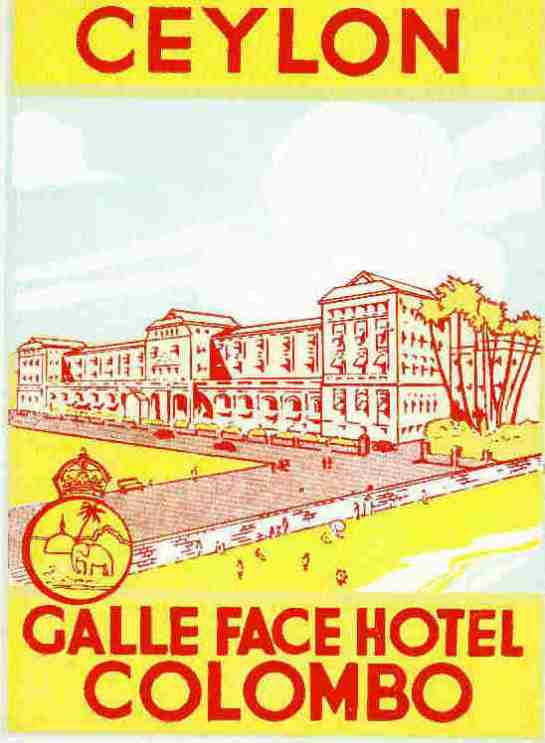 1920s poster of Galle Face hOTEL