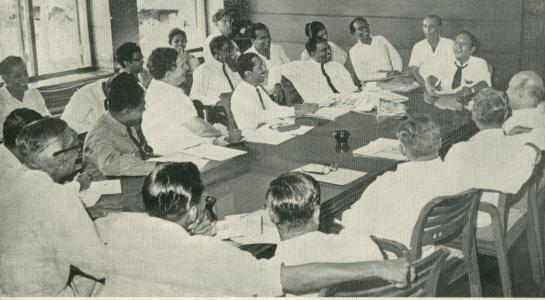 Vernon Corea at the Sri Lanka Broadcasting Corporation