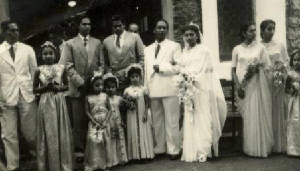 The wedding of Vernon Corea and Monica de Silva at St.Mark's Church Badulla - 4th February 1954.
