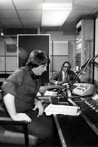 Vernon Corea presenting 'London Sounds Eastern' on BBC Radio London 206