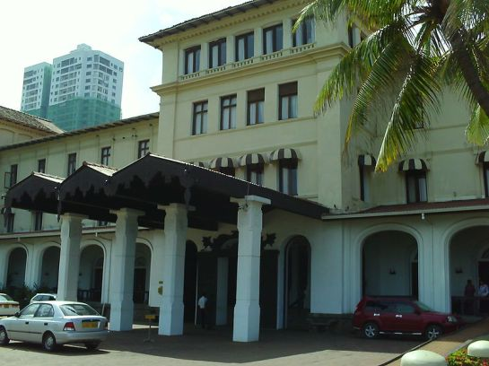 The Coconut Grove was Sri Lanka's premier entertainment venue at the Galle Face Hotel in Colombo. Vernon Corea has presented Radio Ceylon programmes here and introduced The Jetliners on stage. (Photo by Krankman)