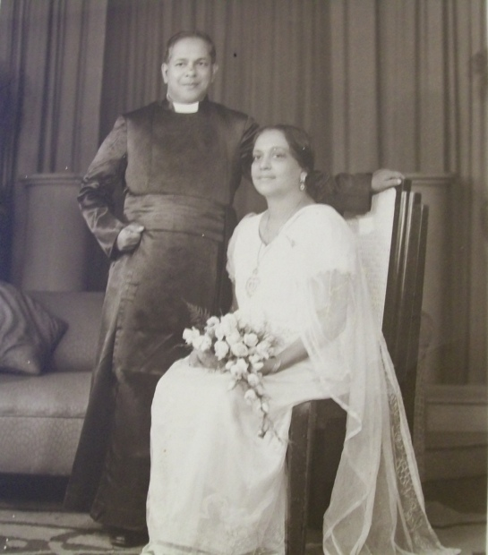 Reverend Canon Ivan and Ouida Corea met the Prime Minister of Ceylon Sir John Kotelawala in Temple Trees in Colombo. Sir John's sister Freda married Canon Ivan Corea's cousin, Dr.C.V.S.Corea.
