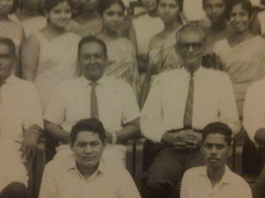Vernon Corea and Livy Wijemanne of the Sri Lanka Broadcasting Corporation.