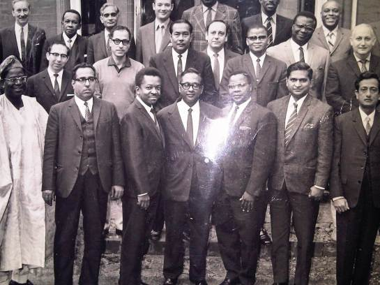 Vernon Corea of the Sri Lanka Broadcasting Corporation with Commonwealth Broadcasters in London in 1970. He first visited the Ceylon Tea Centre in London in 1970.