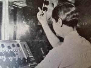 The Radio Ceylon Handbook of 1960 - The Programme Organiser of the English Service, Pearl Ondaatje directing a play from a Radio Ceylon studio.