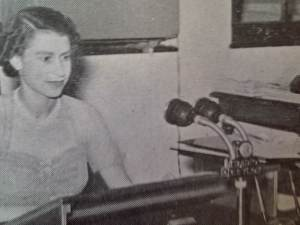 HRH Queen Elizabeth's broadcast over the airwaves of Radio Ceylon - you can see the Radio Ceylon emblem on the microphone used by Her Majesty the Queen.
