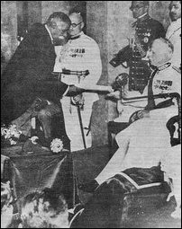 The Prime Minister of Ceylon D.S.Senanayake with Lord Soulbury.