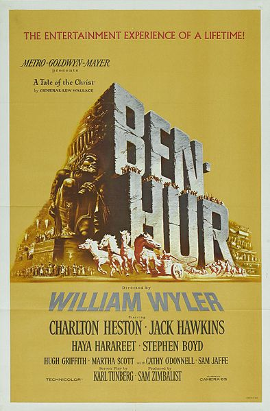 The classic film Ben Hur was screened in Colombo, Ceylon, now Sri Lanka in the 1960s. (Picture courtesy of Wikipedia)