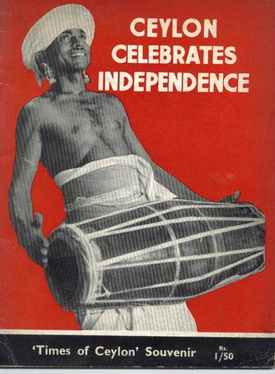 Ceylon Independence - The Times of Ceylon Souvenir from 4th February 1948.