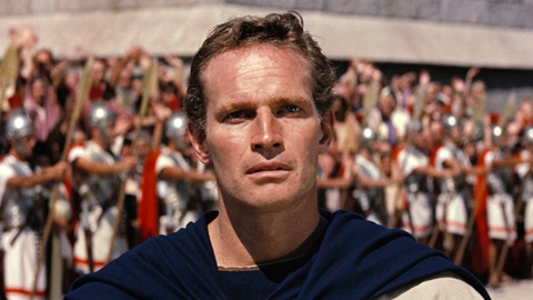 Charlton Heston won an Oscar in 1960 for his role in Ben Hur which also won an Oscar for Best Picture.