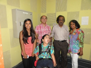 In a studio at the Sri Lanka Broadcasting Corporation