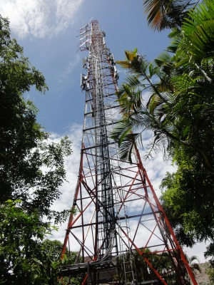 The imposing transmitter at the Sri Lanka Broadcasting Corporation in Independence Avenue