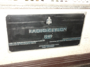 The foundation stone of Radio Ceylon - Sri Lanka Broadcasting Corporation - 1949