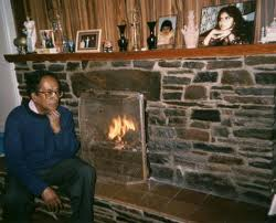 Vernon Corea in his house 'Ballalough' in Andreas on the Isle of Man in the 1980s.