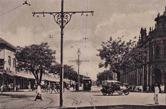 York Street Colombo in 1920. Norman Wisdom's father Fredrick may well have had a job as a chauffeur in Colombo Ceylon in the 1920s.