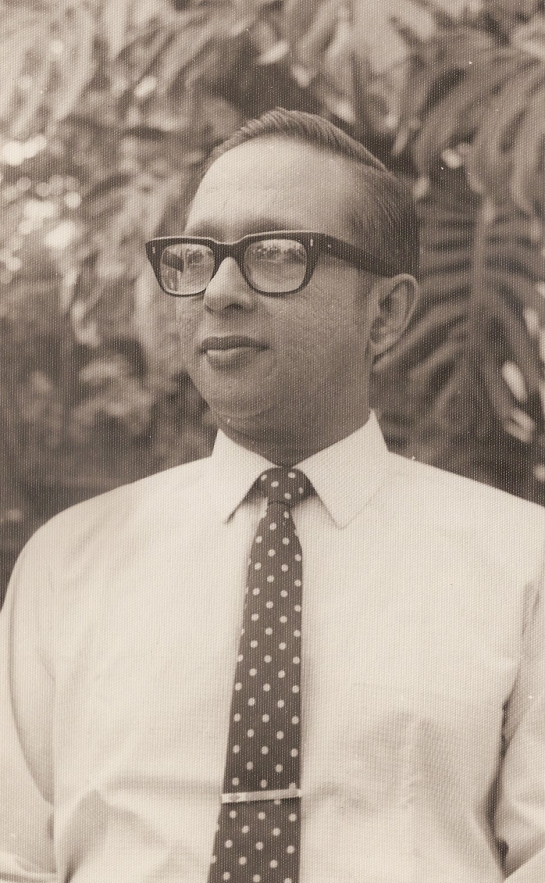 Vernon Corea at 5 Maha Nuge Gardens in Colombo, Sri Lanka - he was a legendary broadcaster at Radio Ceylon/Sri Lanka Broadcasting Corporation.