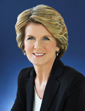 Australia's Foreign Minister Julie Bishop will be at CHOGM 2013.