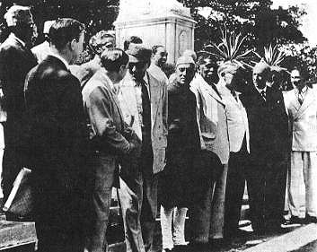 The launching of the Colombo Plan in Ceylon.