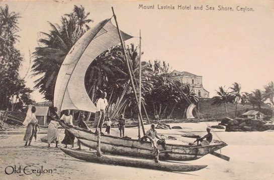 Edward Harper would certainly have visited Mount Lavinia Hotel and the beach - this picture was taken in 1921.