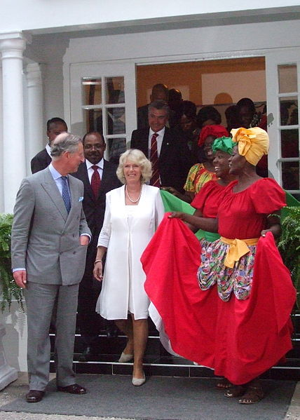 His Royal Highness Prince Charles, the Prince of Wales and HRH Camilla, the Duchess of Cambridge pictured here in Jamaica (Photo from Wikipedia) will open the Commonwealth Heads of Government Meeting in Colombo in November 2013.