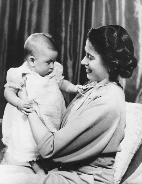HRH Queen Elizabeth II with her eldest son Prince Charles the Prince of Wales in 1949. The Prince will celebrate his birthday at CHOGM 2013 in Colombo.