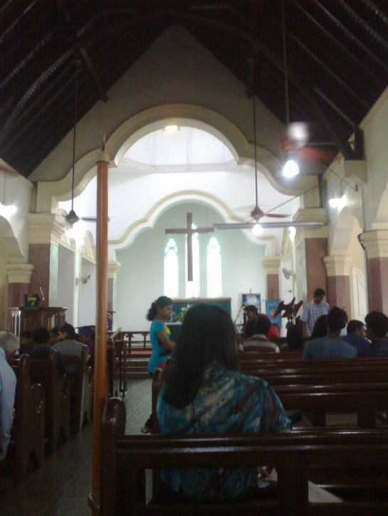 The congreation at St. Luke's Church Borella - quite often young people now lead the services in this thriving church belonging to the Church of Sri Lanka in Colombo.