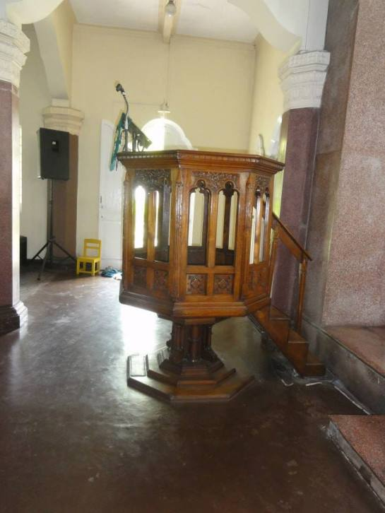 The Pulpit at St.Luke's Church Borella - Canon Corea's sermons were always short and to the point.