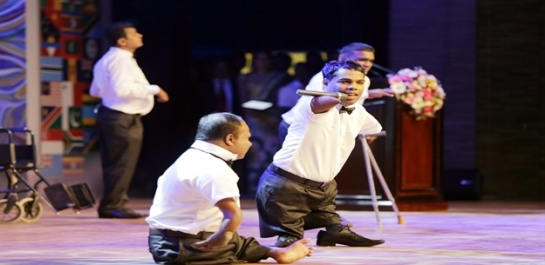The differently abled moved people to tears with their version of the Michael Jackson classic 'Heal The World,' sung at the Commononwealth Youth Forum Opening Ceremony at CHOGM 2013.