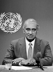 Dr. Gamani Corea was a distinguished economist, diplomat and civil servant from Sri Lanka. He was Under Secretary-General of the United Nations and Secretary-General of UNCTAD.