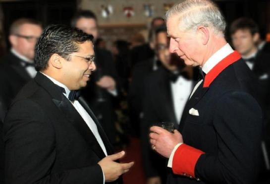 Dr. Chris Nonis, the High Commissioner of Sri Lanka in the UK here with HRH Prince Charles, the Prince of Wales in London.