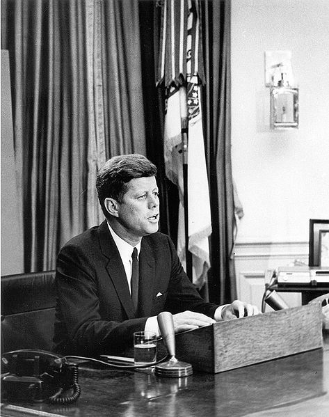 Vernon Corea of Radio Ceylon led the tributes to President John F.Kennedy with Craig Thompson over the airwaves of Radio Ceylon on 22nd November 1963. The photograph shows President Kennedy making his famous civil rights address from The White House in Washington D.C.