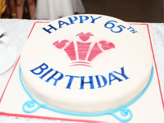 The Birthday Cake of the Prince of Wales who celebrated his 65th Birthday in Colombo, Sri Lanka. Photo courtesy of CHOGM 2013