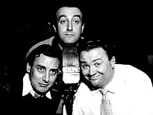 Peter Sellers, Spike Milligan and Harry Secombe in The Goon Show. (Photograph courtesy of Wikipedia)