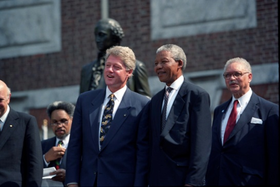 Nelson Mandela here with Bill Clinton. He was a great son of South Africa. Radio Ceylon has followed his life throughout the 1960s and 1970s.