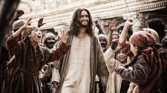 The Bible mini series on Channel 5 on Saturday evenings.
