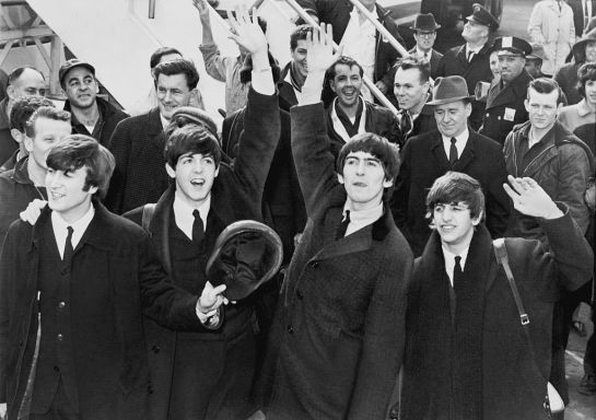 The Beatles arrive in America on 7th February 1964.