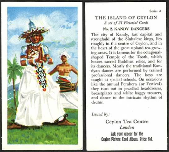 A Ceylon Tea Centre London card from 1955.