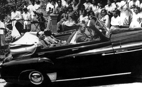 Prince Philip in Ceylon in 1954 during the Royal Visit to the island.