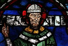 There is a stained glass windown in Canterbury Cathedral on Thomas Becket, Archbishop of Canterbury.