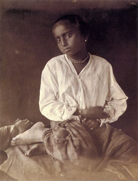 A Photograph of a Sri Lankan lady taken by the British photographer Julia Margaret Cameron when she lived in Ceylon in the 1870s.