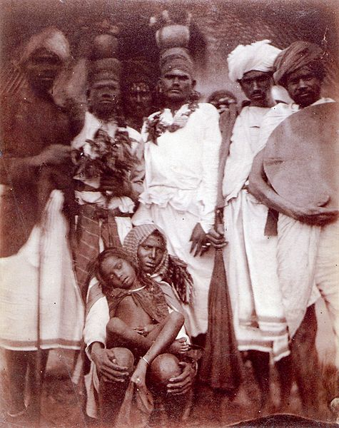 A photograph of Sri Lankan people taken in the 1870s by Julia Margaret Cameron.