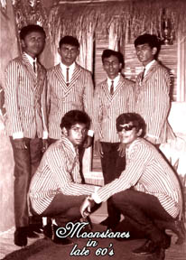 The Moonstones were helped, supported and mentored by Vernon Corea - he was the first to introduce their music on Radio Ceylon in the early 1960s. The Moonstones were managed by Vernon's cousin Sri Sangabo Corea.