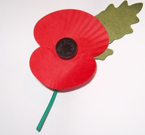 The Royal British Legion Paper Poppy.
