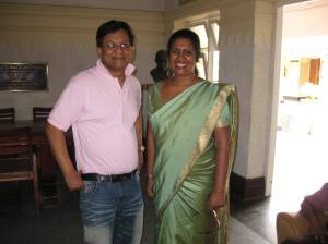 Ivan Corea with top Sri Lanka Broadcasting Corporation (Radio Sri Lanka) Producer Indira Priyadarshini Nawagamuwa.