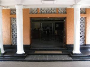 The entrance to the Sri Lanka Broadcasting Corporation.