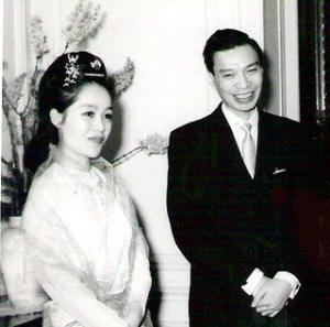 Burmese diplomat Sao Boonwaat and his wife Shirley in Paris. The Burmese Ambassador shot his wife on Sunday 15th October 1967 at Carlton Lodge in Colombo. It was one the most talked about murders of 1967 with international newspapers covering the story.